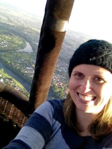 Bucket List - Julie in Hot Air Balloon