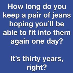 julieschooler.com - blog - 3 objections to decluttering - Jeans