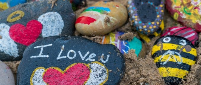 julieschooler.com - blog - 3 Self-Love Affirmation Practices Guranteed to Brighten Your Day - I Love You Stones